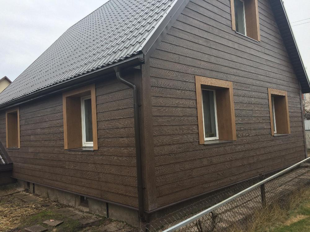 External siding using SHERA fibre cement plank in Lithuania