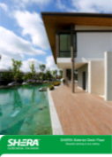 SHERA decking planks - high quality fibre cement planks for exterior decking applications