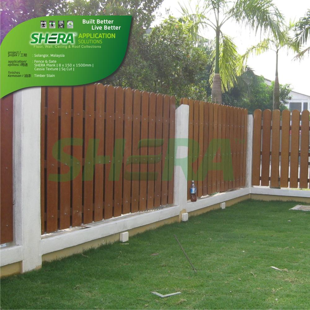 Shera Europe Shera Wood Products In Fencing Applications