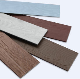 SHERA fibre cement planks come in a range of profiles and colours