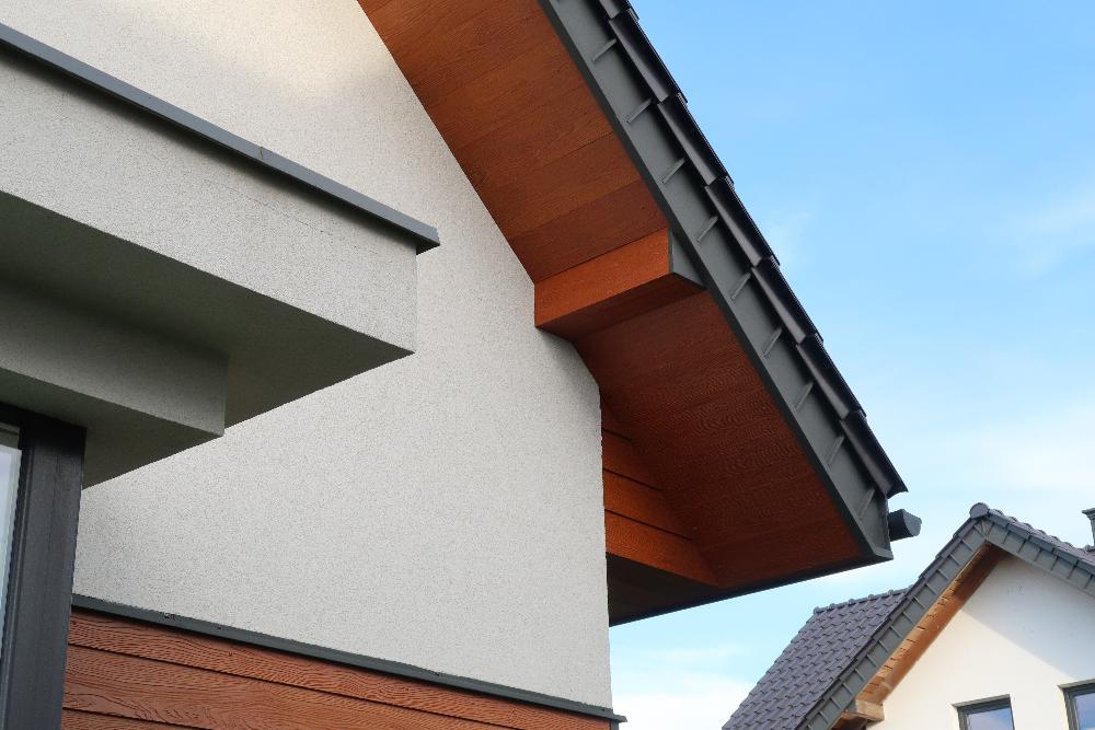 Versatile fibre cement plank product - SHERA Plank on housing project in Poland
