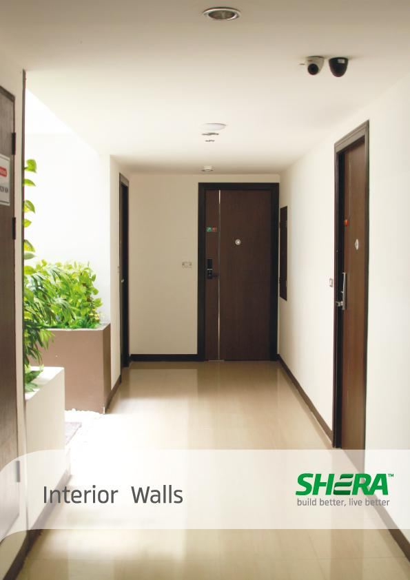 SHERA Board for interior wall solutions