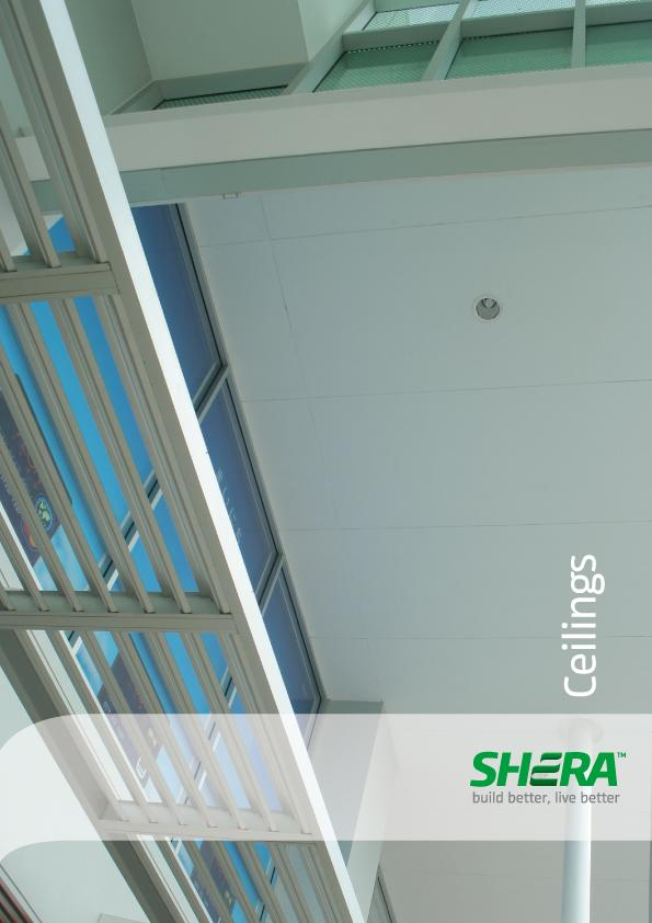 SHERA Ceiling Board for interior and exterior ceiling applications
