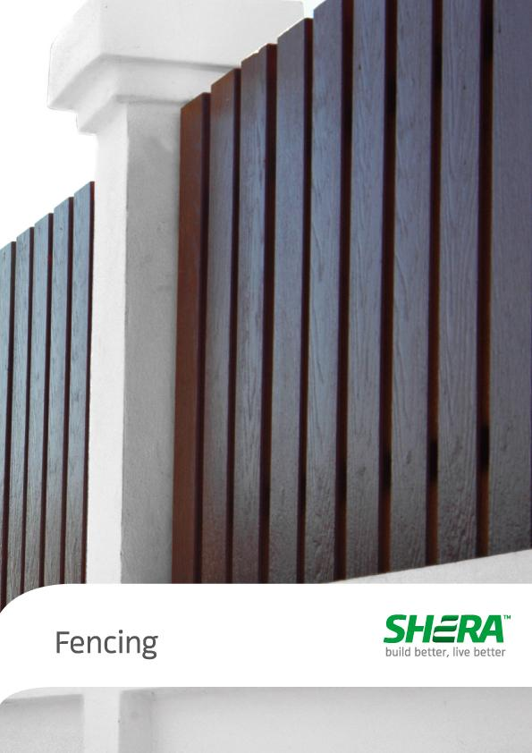 SHERA Fence is tough long lasting fibre cement fence