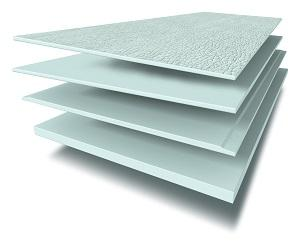 Fibre cement boards with profiled surface