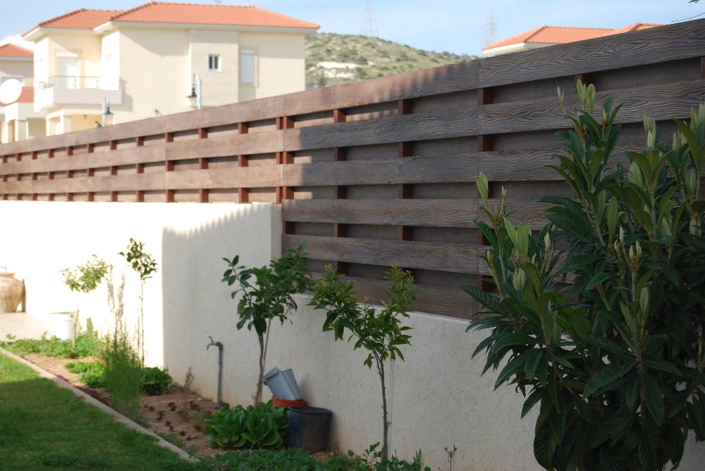 SHERAFence is fibre cement fencing for exterior garden applications