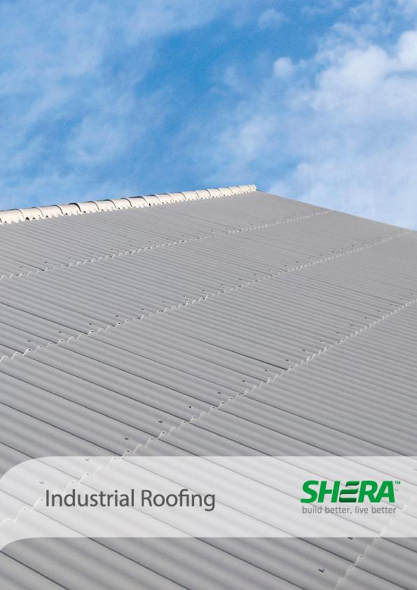 SHERA fiber cement roof tiles for industrial roofing applications