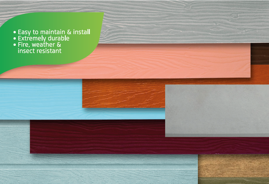 SHERA painted planks are the perfect material for external siding applications